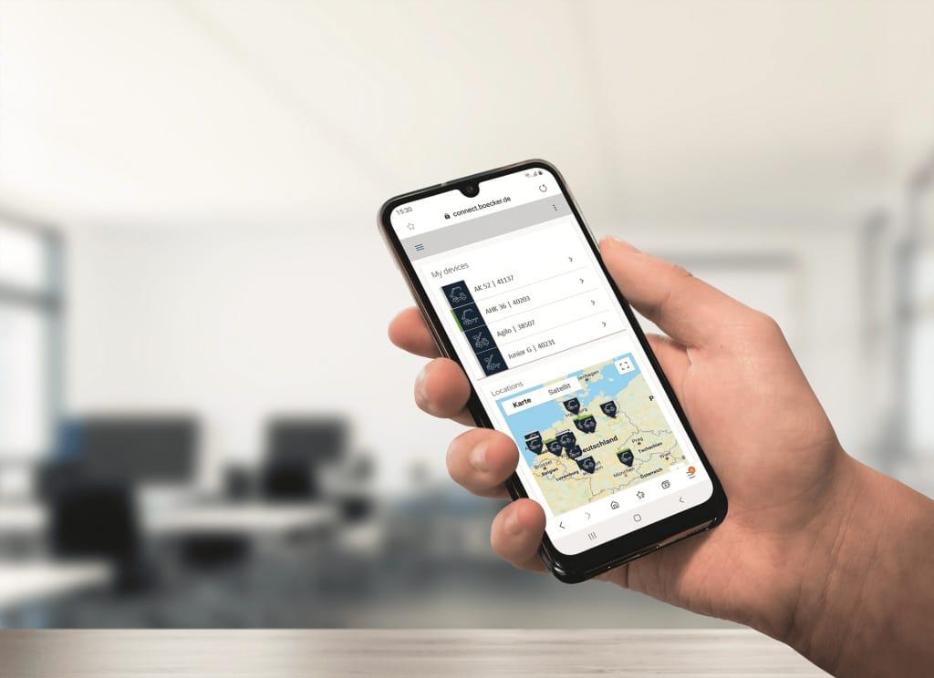 com2m Böcker IoT App